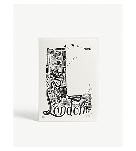 LUCYLOVESTHIS 'L' London illustrated print 21x29.7cm
