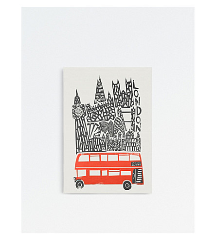 FOX & VELVET London cityscape A3 print