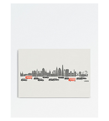 FOX & VELVET London panoramic A3 print