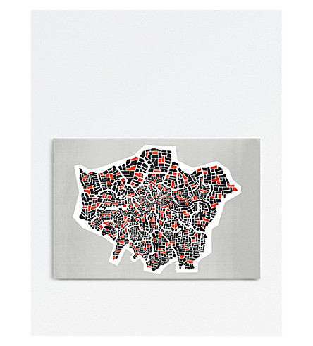 FOX & VELVET London boroughs A3 print