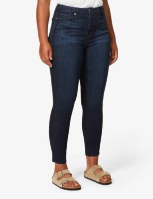 Good Waist crop stretch-denim jeans