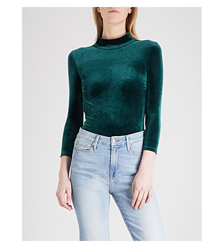 GOOD AMERICAN Backless velvet body (Emerald