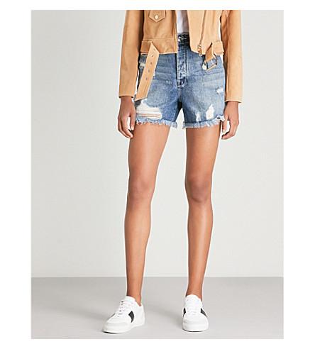 Blue171 Shorts de gran deshilachados vaqueros AMERICAN GOOD altura TzvwRA4x