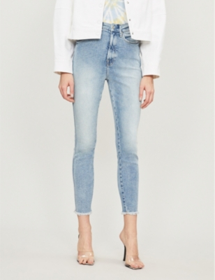 Good Leg raw hem cropped straight-leg high-rise jeans
