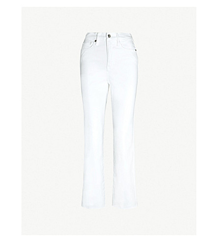 GOOD AMERICAN Good curve flared high-rise jeans (White008