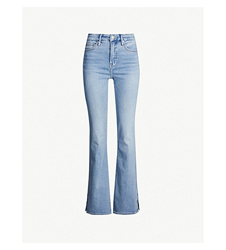 GOOD AMERICAN Good Flare slim-fit high-rise jeans (Blue258
