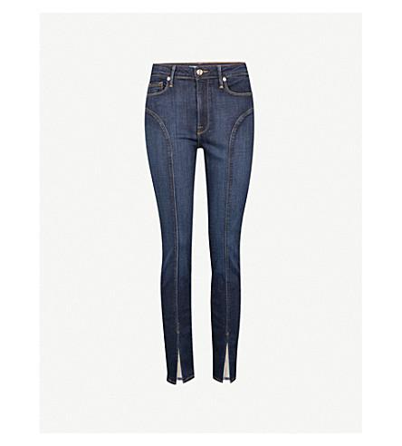 GOOD AMERICAN Good Legs split-hem slim-fit high-rise jeans (Blue