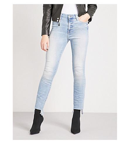 GOOD AMERICAN Good Legs Tunnel Hem skinny high-rise jeans (Blue