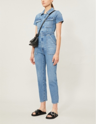 The Fit For Success short-sleeved denim jumpsuit