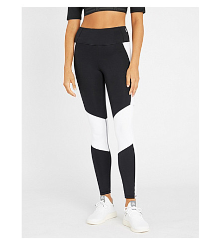 GOOD AMERICAN Dual Life high-rise stretch-jersey leggings (Black002