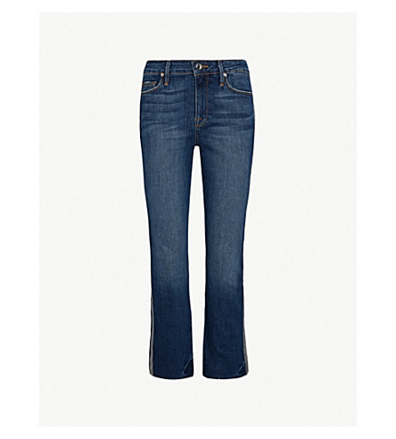 GOOD AMERICAN Good Straight athletic regular-fit high-rise jeans (Blue