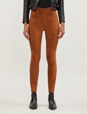 Good Waist faux-suede skinny jeans