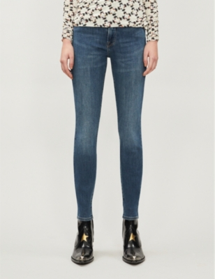 Good Waist skinny faded high-rise jeans