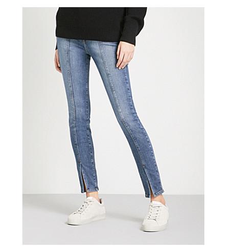 GOOD AMERICAN Good Waist Split-Hem slim-fit high-rise jeans (Blue