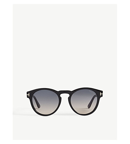 TOM FORD Margaux round-frame sunglasses (Black