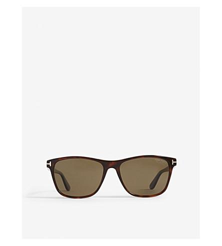 TOM FORD Nicolo rectangle-frame sunglasses (Dark+havana/polarized