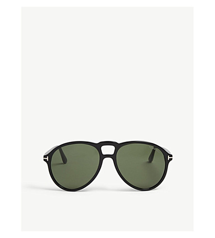 TOM FORD Lennon TF645 pilot-frame sunglasses (Green 2