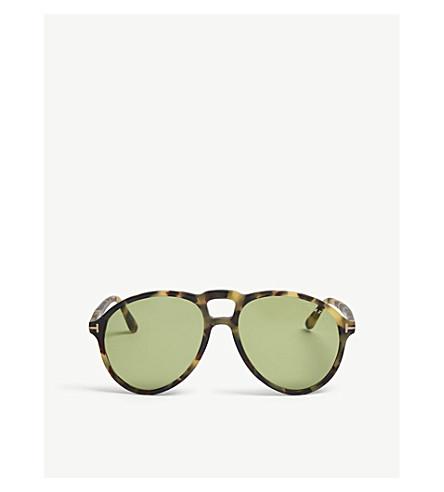 TOM FORD Lennon TF645 pilot-frame sunglasses (Green