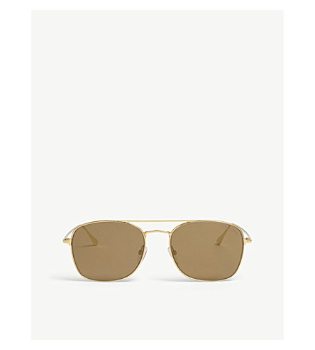 TOM FORD Luca TF650 square-frame sunglasses (Gold brown