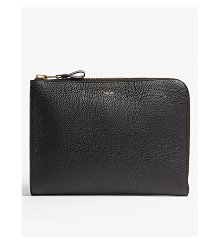 TOM FORD Leather portfolio (Black+gold
