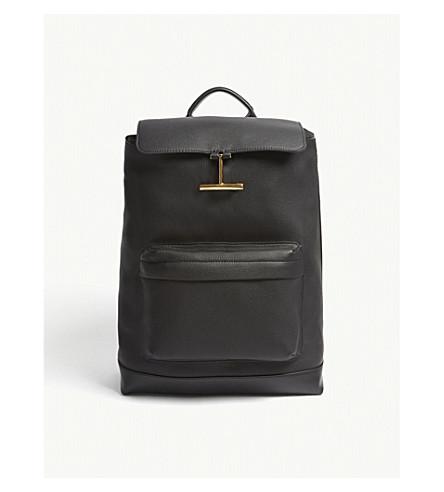 TOM FORD Saint Germain leather backpack (Black