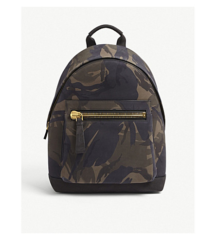 TOM FORD Camouflage nubuck backpack (Camo