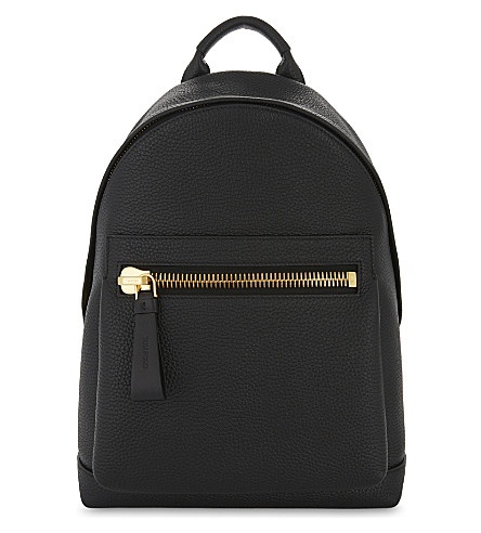 TOM FORD Grained leather backpack (Black