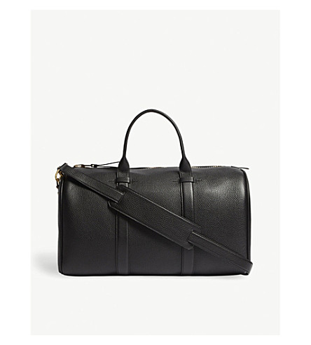 TOM FORD Pebbled leather holdall (Black