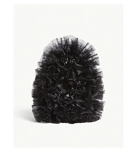 COMME NOIR KEI NINOMIYA Frilled tulle flowers backpack (Black
