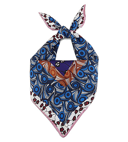 MARNI Printed silk bandana (Dark+orchid