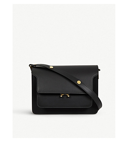 MARNI Trunk leather shoulder bag (Black