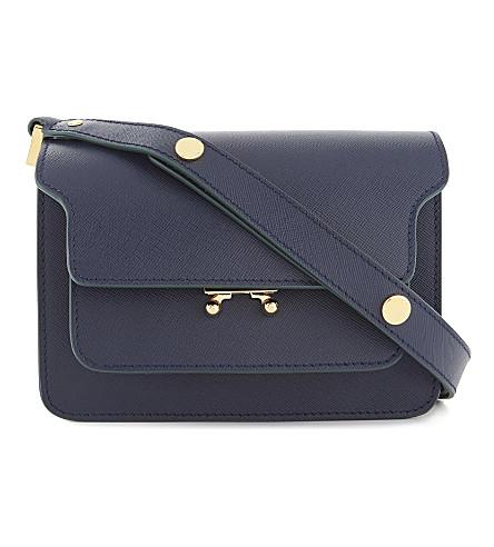 MARNI Trunk leather shoulder bag (Blue