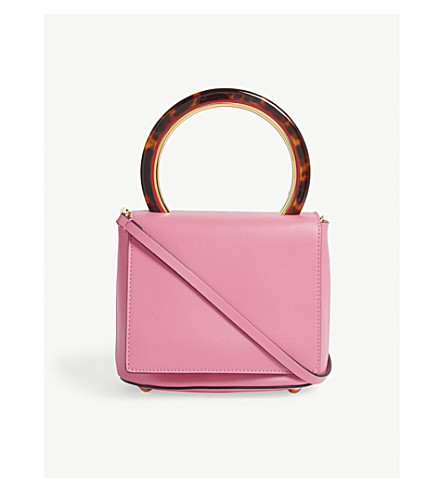 MARNI Pannier leather cross-body bag (Fuschia