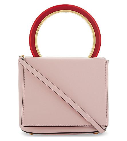 MARNI Pannier leather shoulder bag (Cinder+rose