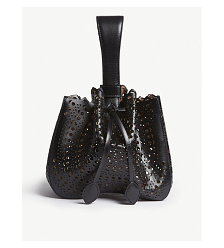 AZZEDINE ALAIA Leather top-handle bag (Black