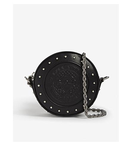 BALMAIN Renaissance mini leather clutch (Black