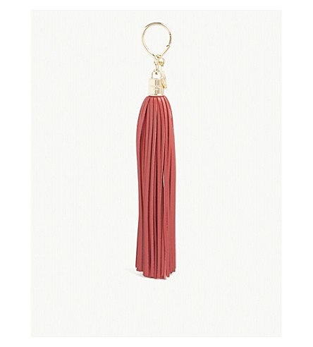 BALMAIN Leather tassel charm (Red
