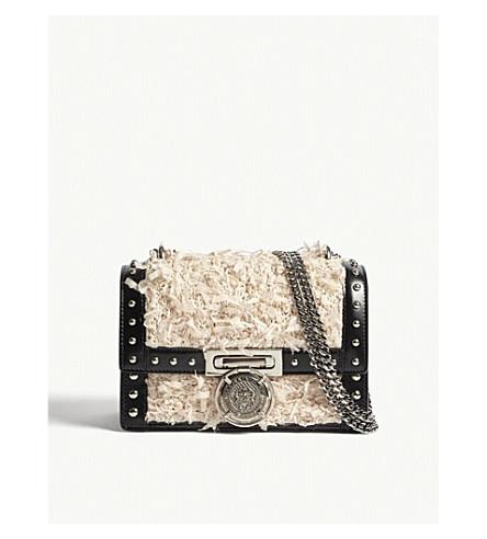 BALMAIN BBox 20 leather shoulder bag (Black/white