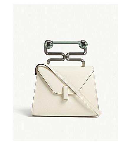 VALEXTRA Idle Toothpaste leather shoulder bag (Pergamena+cream