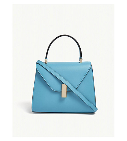 VALEXTRA Iside mini leather cross-body bag (Aqua+marina