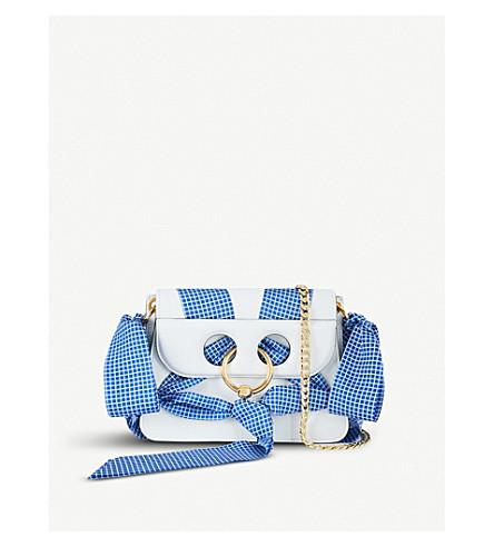 JW ANDERSON Mini Pierce leather cross-body bag (White