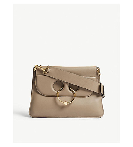 JW ANDERSON Pierce medium leather shoulder bag (Ash