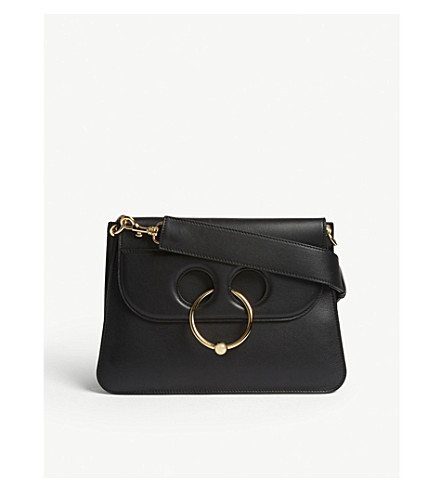 JW ANDERSON Pierce medium leather shoulder bag (Black
