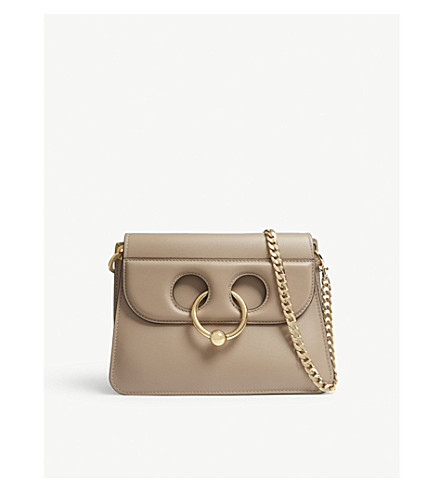JW ANDERSON Mini Pierce leather shoulder bag (Ash