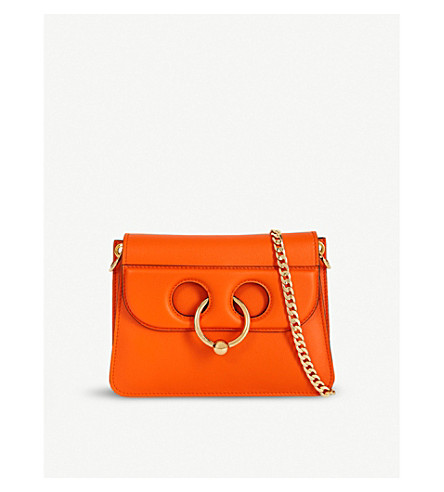 JW ANDERSON Pierce mini leather shoulder bag (Tangerine