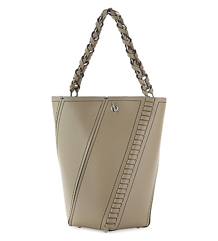 PROENZA SCHOULER Hex leather shoulder bag (Light+taupe