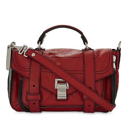 PROENZA SCHOULER Ps1 leather shoulder bag (Cardinal