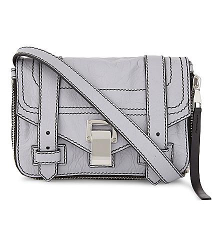 PROENZA SCHOULER PS1 Plus mini leather cross-body bag (Dove+grey