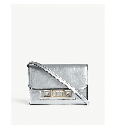 PROENZA SCHOULER PS11 metallic leather cross-body bag (Silver