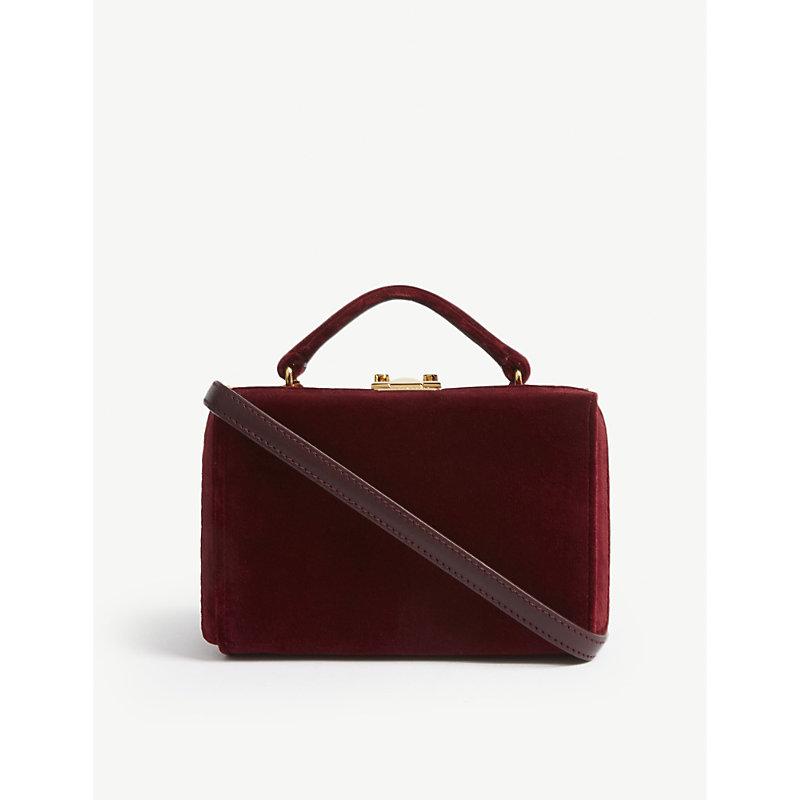 Grace mini velvet trunk shoulder bag